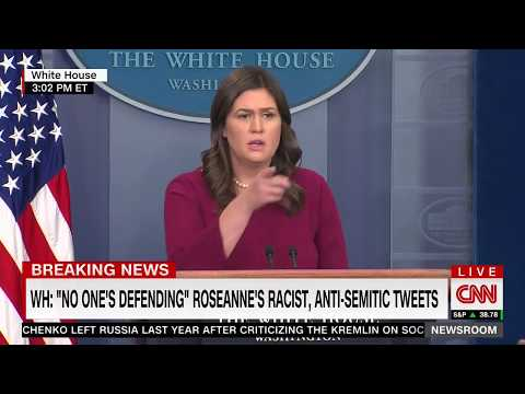 Sanders: Trump's 'Roseanne' Tweet Simply Points Out Media Bias