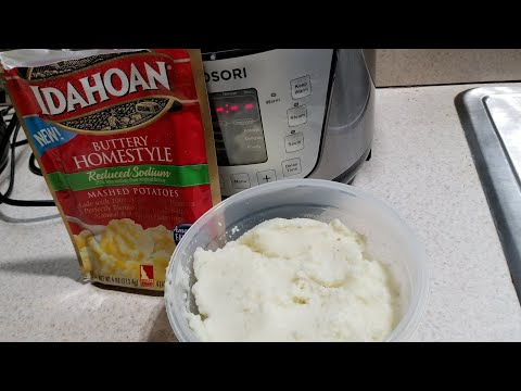 Pressure Cooker Easy Instant Mash Potatoes 2qt Cosori steam function Idahoan Buttery Homestyle