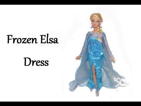 How to make Frozen inspired Elsa Dress Tutorial DIY