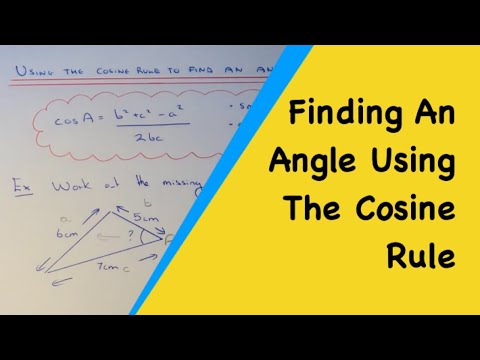 How To Find Any Angle In Any Triangle Given All 3 Side Lengths (The Cosine Rule Angle Formula).