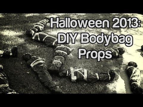 Halloween 2013:  DIY Body Bag Props