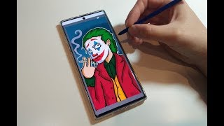 Drawing The Joker on my Samsung Note 10!