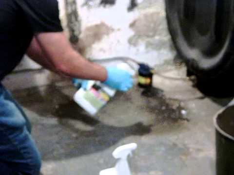 How to, Remove, Oil clean up,  gas, diesel,  oil, on cement, wood, asphalt, soil, water,