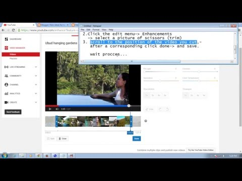 How to cut youtube videos and how to trim video on youtube