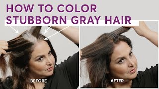 How To Color Stubborn Gray Hair