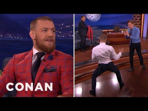 Conor McGregor Demos His Capoeira Kick On Conan  - CONAN on TBS