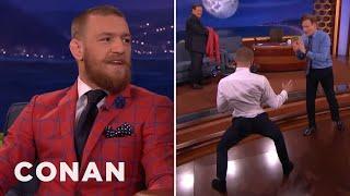 Download Conor McGregor Demos His Capoeira Kick On Conan - CONAN on TBS Video