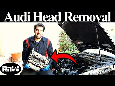 What it Takes to Remove The Cylinder Heads Off an Audi