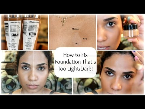 How to: Fix Foundation That's Too Light/Dark for You! | byBelle4u