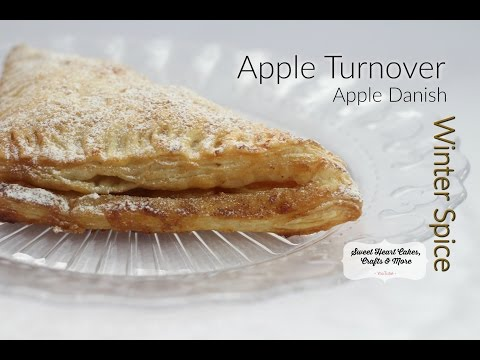 Winter Spice Apple Turnovers (Apple Danish) with Puff Pastry
