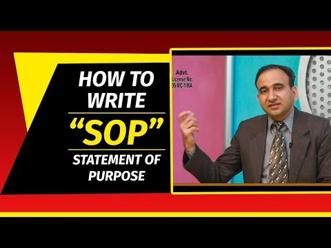 How to Write SOP - Statement of Purpose