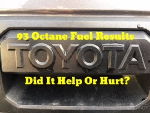 Toyota Tundra 93 Octane Fuel Test Results