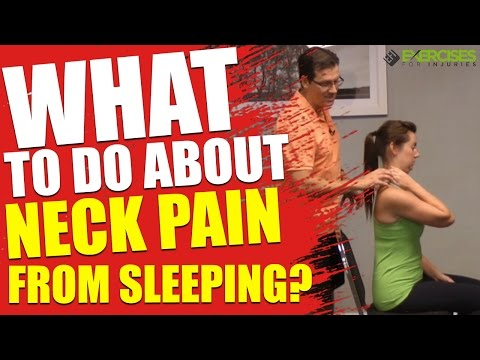 What To Do About Neck Pain From Sleeping?