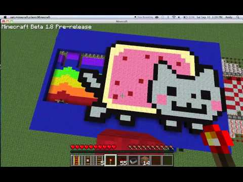 Minecraft: moving nyan cat