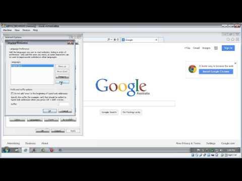 Change Internet Explorer language settings