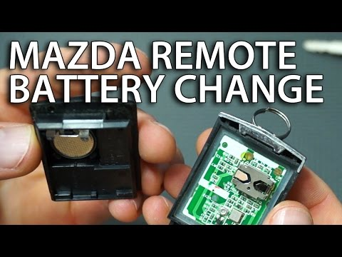 How to replace battery in Mazda remote (6, 3, 5, 2, MPV, RX-8, CX-7 flip key fob battery change)