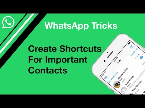 Create Shortcuts For Important WhatsApp Contacts | WhatsApp Tricks