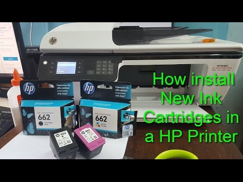 How to replace or install a HP Ink Cartridge?