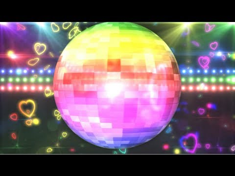 Rainbow Disco Ball Background Motion Graphic Free Download