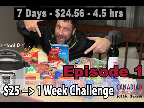Instant Pot 1-Week $25 Challenge-Episode 1 of 4 - RULES & Overview