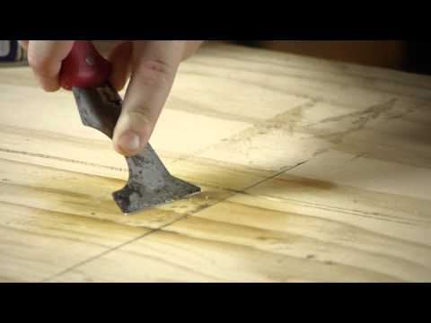 How to Remove a Peel-and-Stick Tile Adhesive From Plywood : Working on Flooring