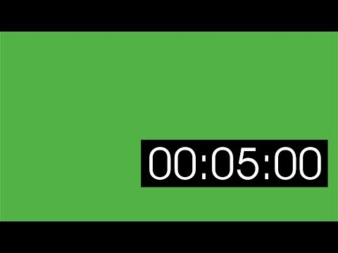 5 minute green screen timer (lower right corner)