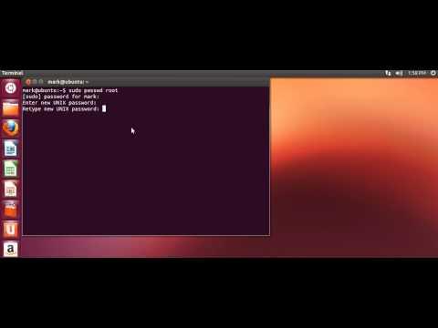 How to enable ubuntu root password