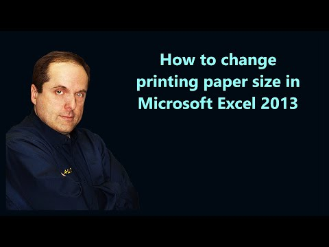 How to change printing paper size in Microsoft Excel 2013
