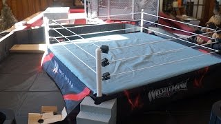 WWE Wrestlemania Authentic Scale Ring Wicked Cool Toys Unboxing, Construction & Review!!