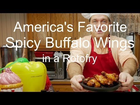 America's Favorite Spicy Buffalo Wings Recipe in a DeLonghi RotoFry