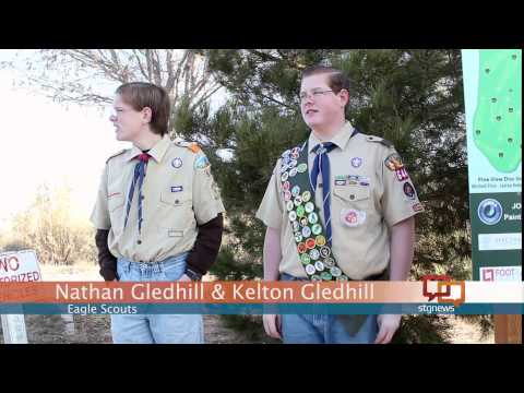 Eagle Scouts build largest disc golf course within 100 miles; STGnews Videocast