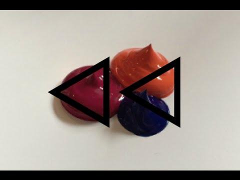 REVERSE Acrylic Paint Colour Mixing - #8 (DARK PLUM)