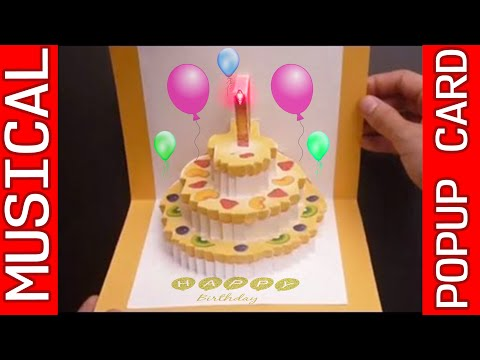 how to make a d pop up birthday cake card / how to repair, Birthday card