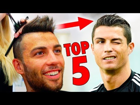 TOP 5 Cristiano Ronaldo Hairstyles - Best Football Players Haircuts