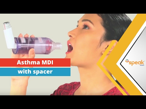 Asthma: How to use a Metered Dose Inhaler (MDI) with spacer