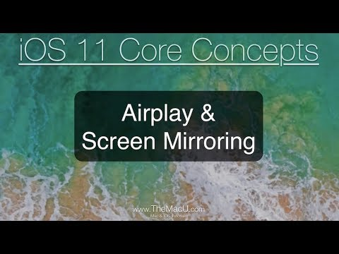 iOS 11 Tutorial - Airplay & Screen Mirroring