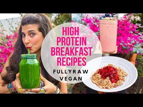 3 HIGH PROTEIN BREAKFAST RECIPES    FullyRaw Vegan