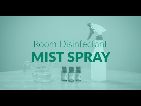 Room Disinfectant Mist Spray with Essential Oils