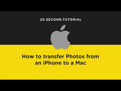 Transfer Photos from iPhone to a Mac   Mac Computer Tutorial #1