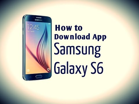 Samsung Galaxy S6 - how to download an app on your samsung s6