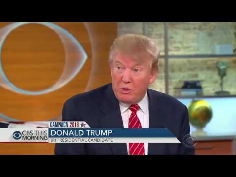 Donald Trump Latest Interview on Syria & Russia   CBS This Morning