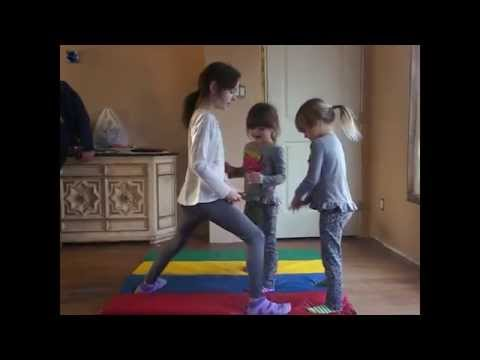 Cheerleading Stunts & Tumbling Fun At Home With Bloopers - Mikayla & The Twins