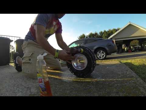 How to put HDPE / PVC sleeves on your drift trike tires