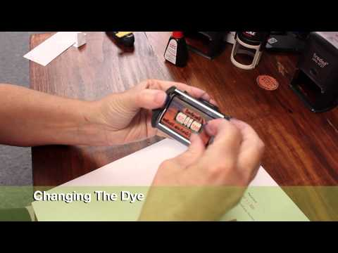 TUTORIAL : TRODAT PROFESSIONAL DATER SELF-INKING STAMP