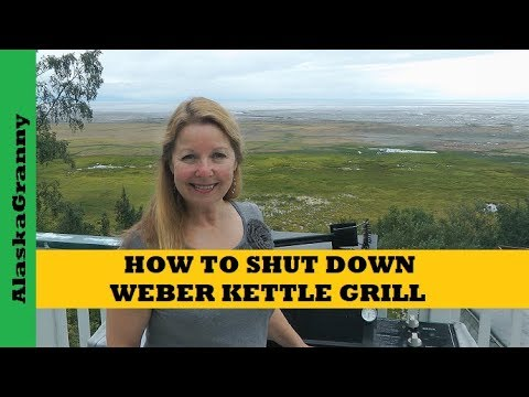 How To Shut Down Weber Kettle Charcoal Grill
