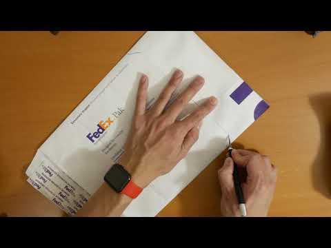 Tyvek FedEx Envelope Bi-Fold Wallet Origami Instructions DIY -- in 4K