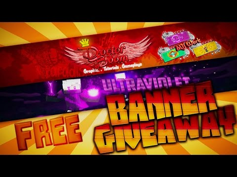 GIVEAWAY! Free Minecraft Animated / Professional Youtube Channel Banner - ★ STILL OPEN! HURRY ★