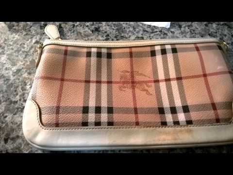 Burberry Clutch remove dye or stains
