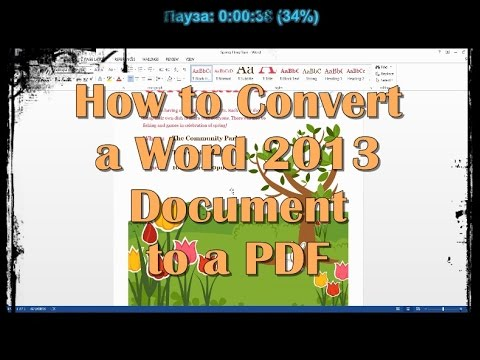 How to Convert a Word 2013 Document to a PDF