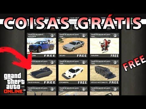 COISAS GRÁTIS NO GTA V ONLINE (CARROS, ARMAS E ITENS DA LOS SANTOS CUSTOMS)
